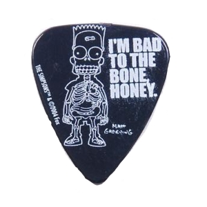 (지엠뮤직) PIC2025-8 Simpsons 0.85mm Pick-#08 Bart X-Ray