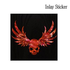 Body Wing Skull-red (No.77) 악기 스티커