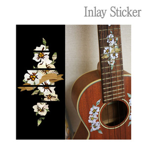 For Ukulele Hibiscus Fret markers-T (No.131) 악기 스티커