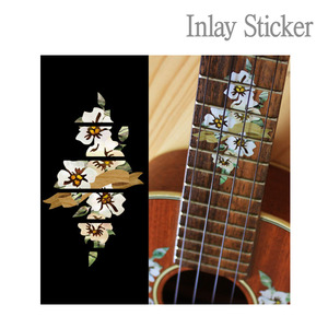 For Ukulele Hibiscus Fret markers-C (No.129) 악기 스티커